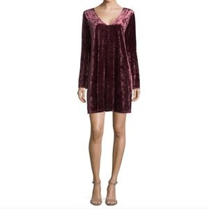 a.n.a | NWOT Maroon Velvet Bell Sleeve Dress L